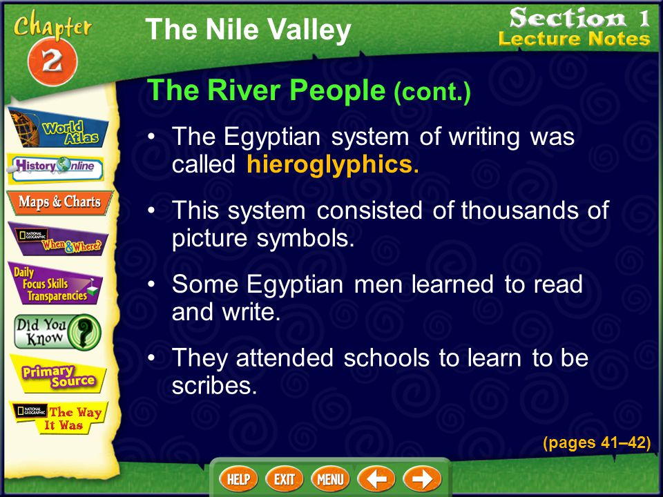 The River People (cont.) Farmers learned about irrigation. They dug basins to trap floodwaters, dug canals to channel water to the fields, and built d
