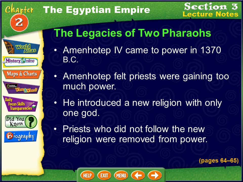 How was Hatshepsut unlike other pharaohs? She focused on trade instead of military conquests. The Egyptian Empire