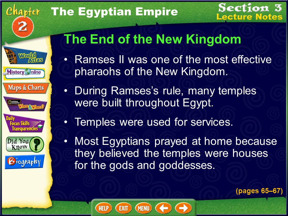 What happened as a result of the removal of the priests? The priests were experienced in ruling Egypt. When Amenhotep neglected his duties, the priest