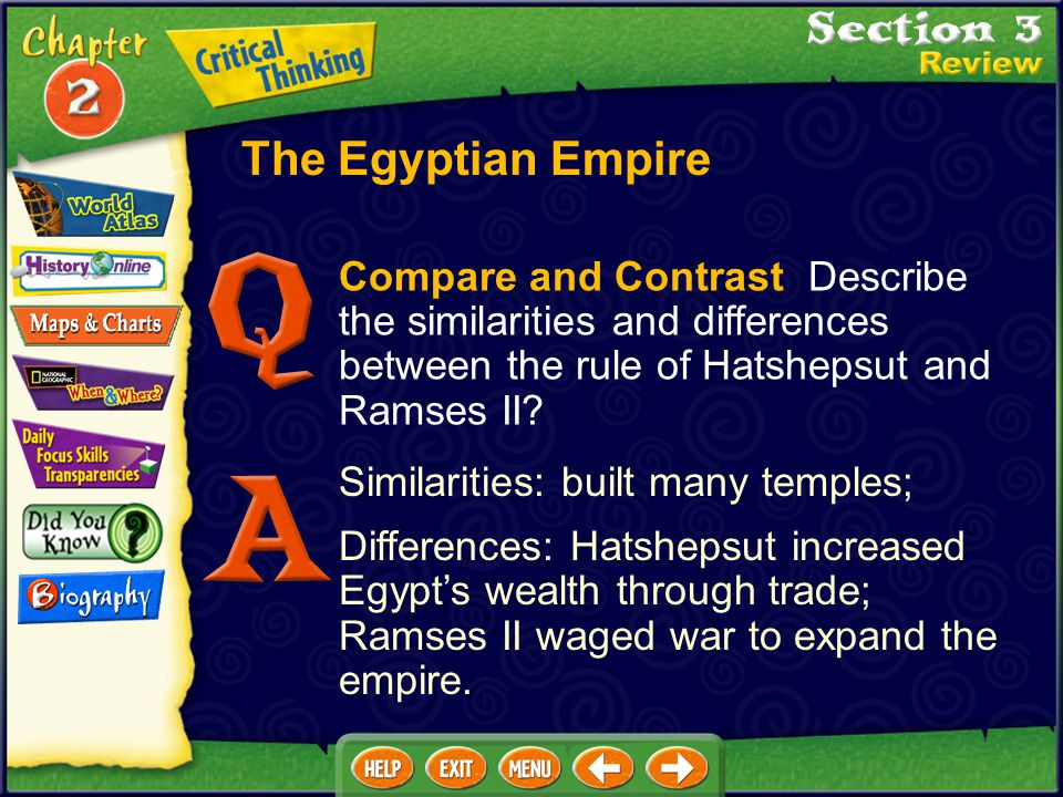 Analyze How did Akhenaton upset the traditional order? He stopped worship of old gods in favor of one god. The Egyptian Empire