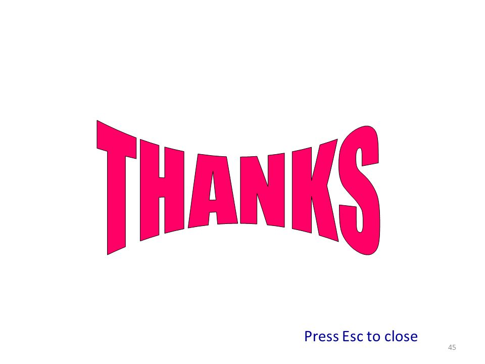 45 Press Esc to close