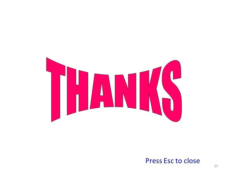 67 Press Esc to close