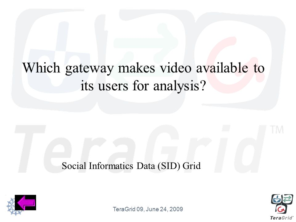 Which gateway makes video available to its users for analysis.