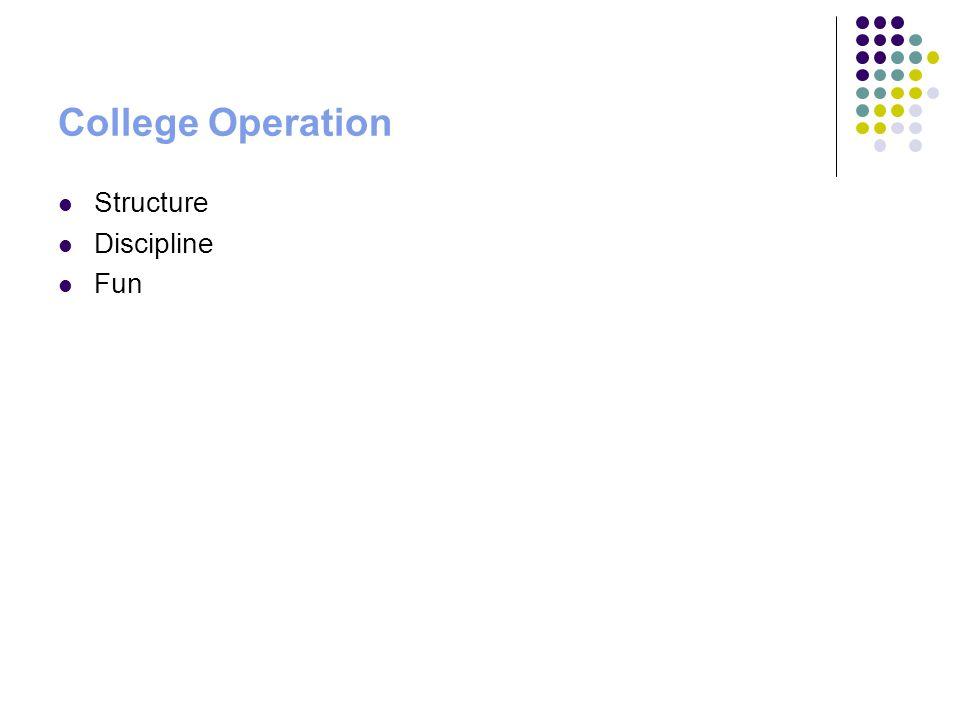 College Operation Structure Discipline Fun
