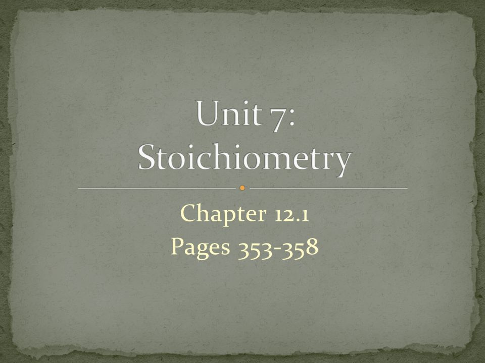 Chapter 12.1 Pages 353-358