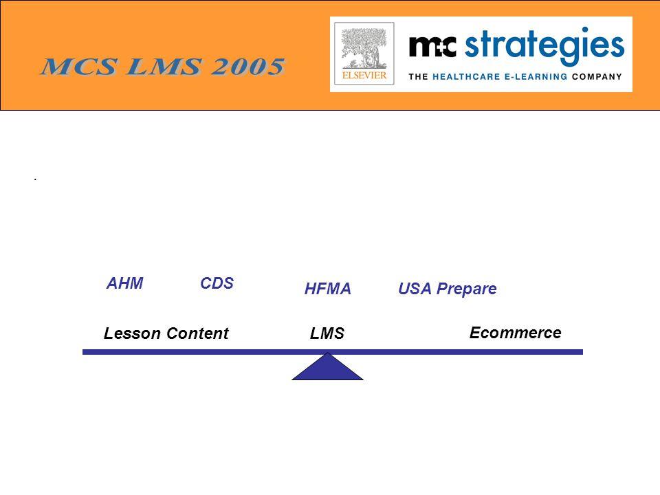 . LMSLesson Content Ecommerce USA Prepare CDSAHM HFMA