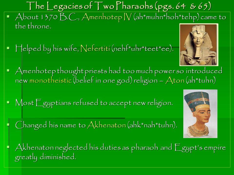 The Boy King  Tutankhamen (too*tang*kah*muhn), better known as King Tut, inherited the throne when Akhenaton died.
