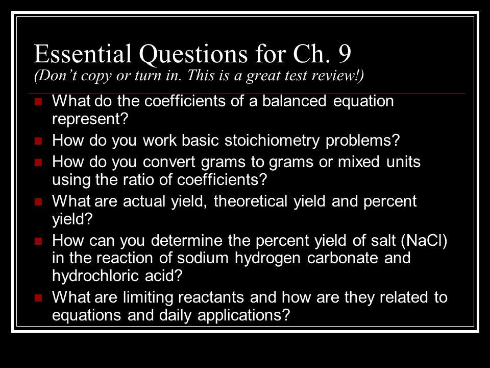 Essential Questions for Ch. 9 (Don't copy or turn in.