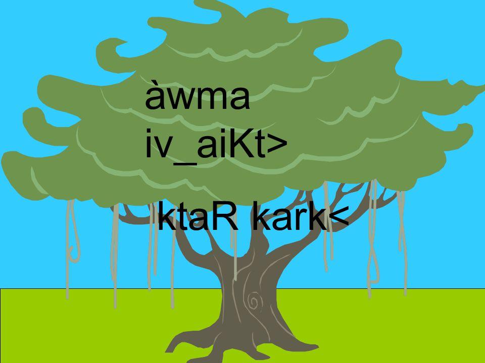 àwma iv_aiKt> ktaR kark<