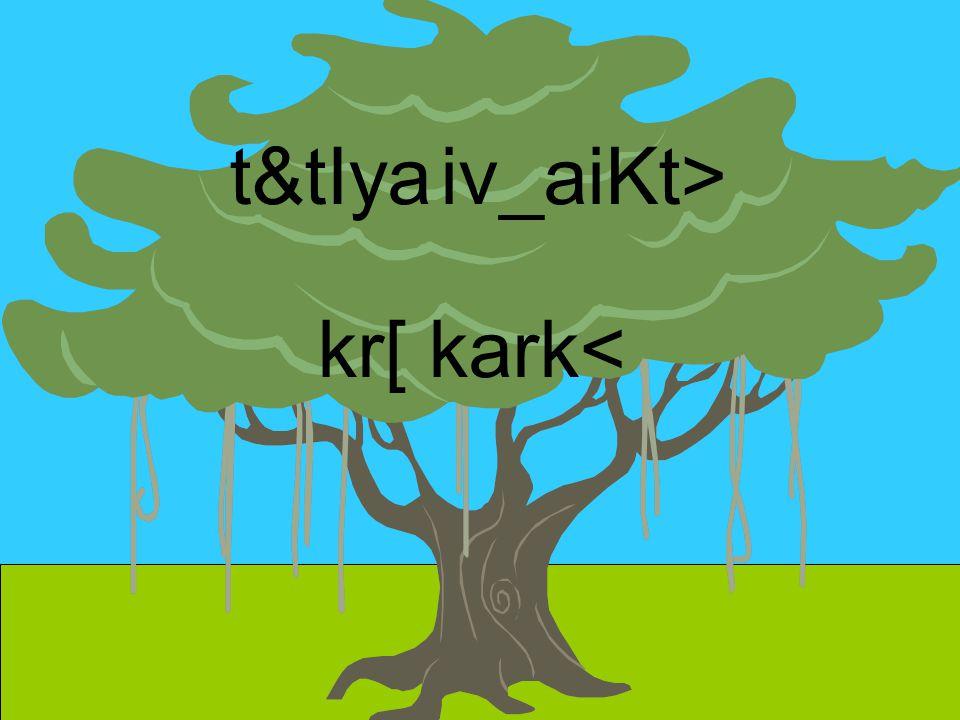 t&tIya iv_aiKt> kr[ kark<