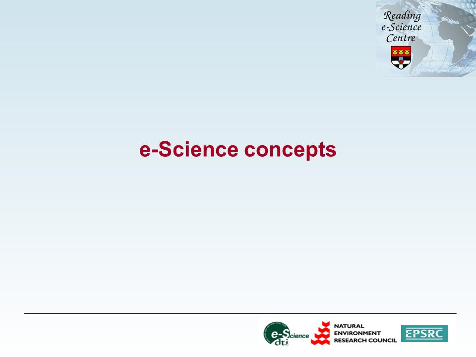 e-Science concepts