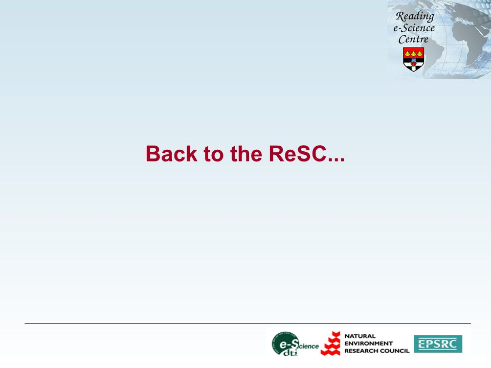 Back to the ReSC...