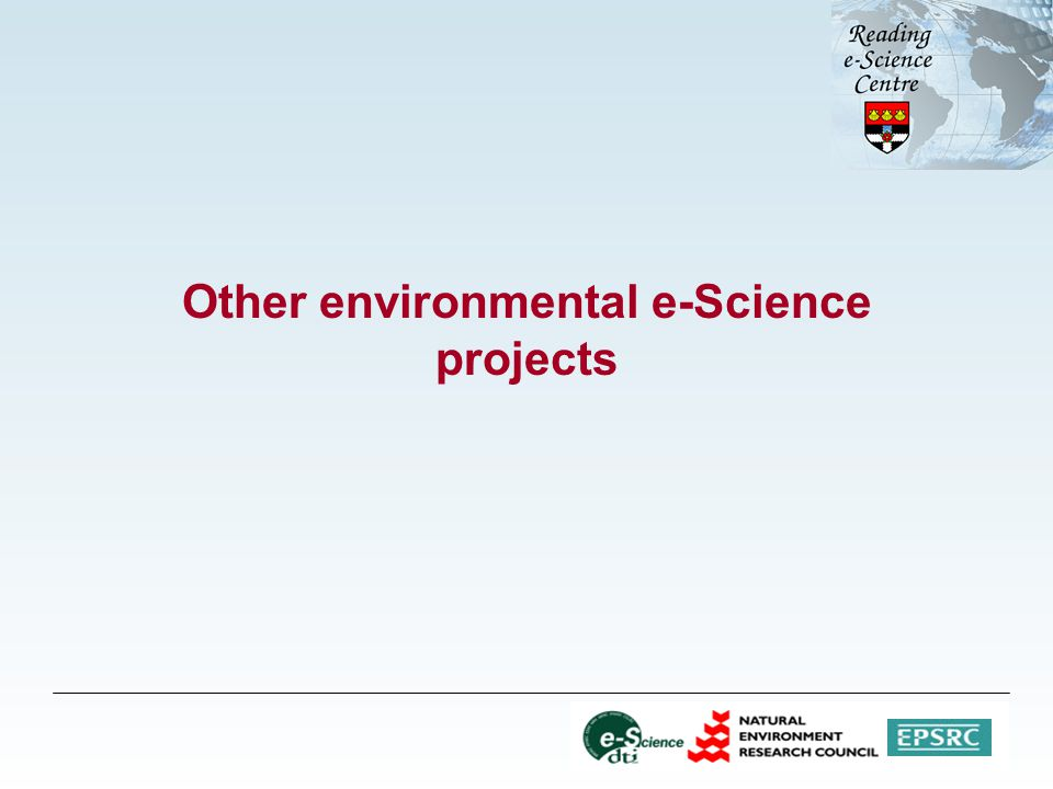 Other environmental e-Science projects