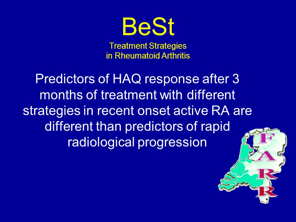 Predictors of HAQ response after 3 months of treatment with different strategies in recent onset active RA are different than predictors of rapid radi