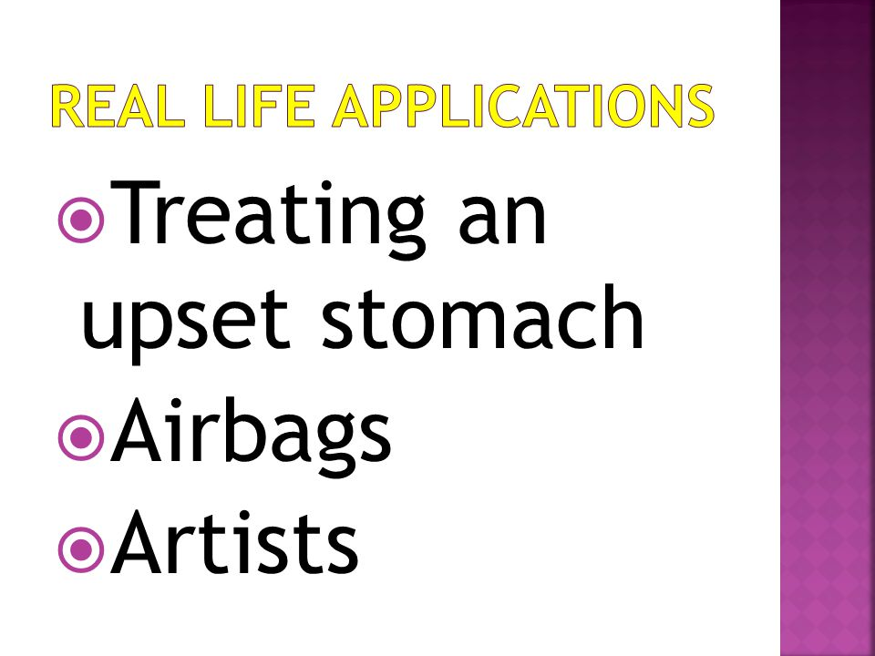 TTreating an upset stomach AAirbags AArtists
