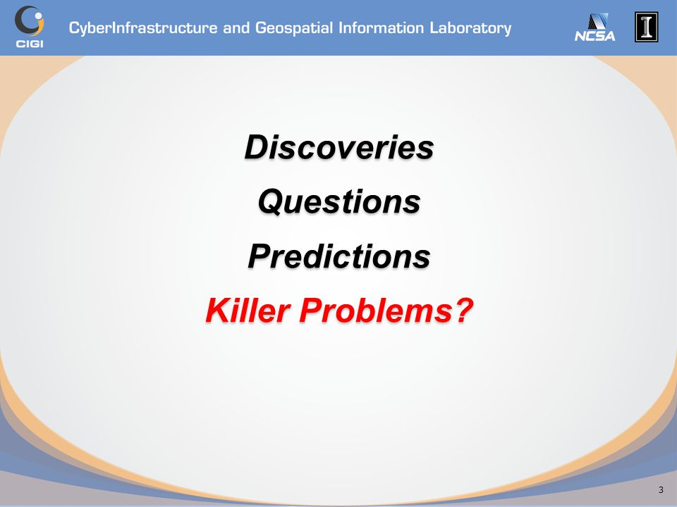 Discoveries Questions Predictions Killer Problems 3