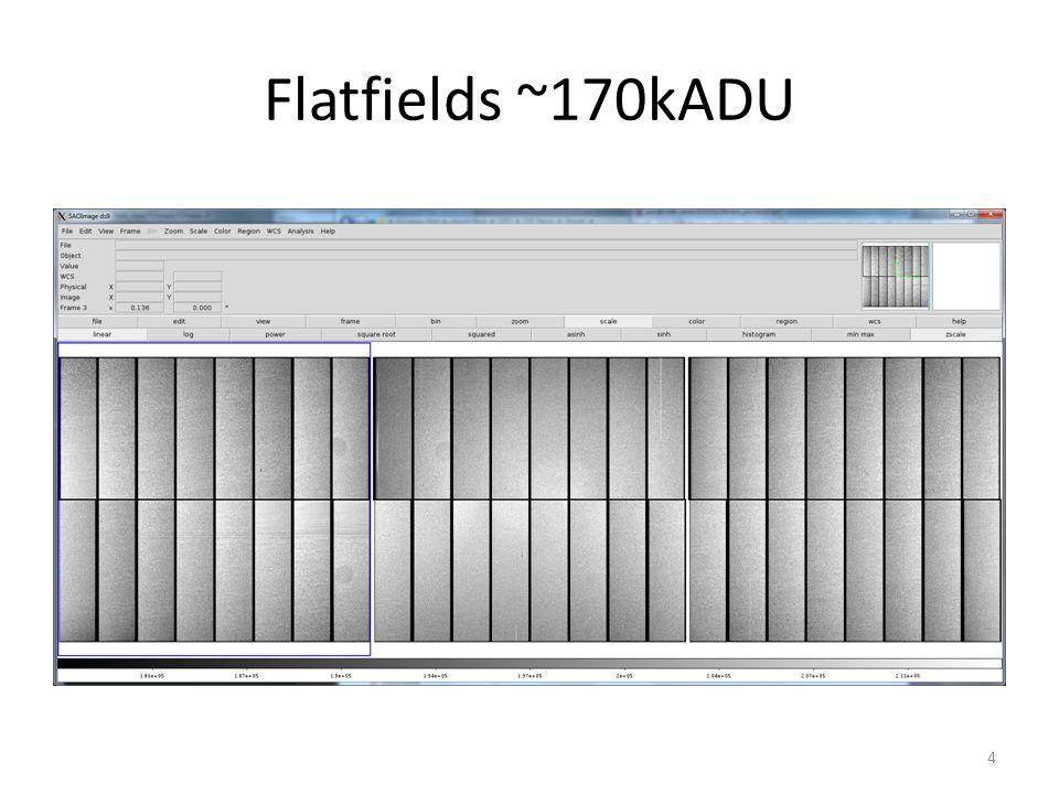 Flatfields ~170kADU 4
