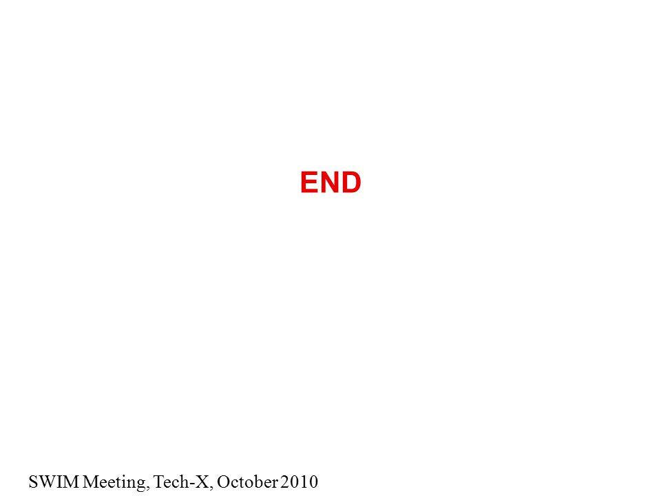 SWIM Meeting, Tech-X, October 2010 END