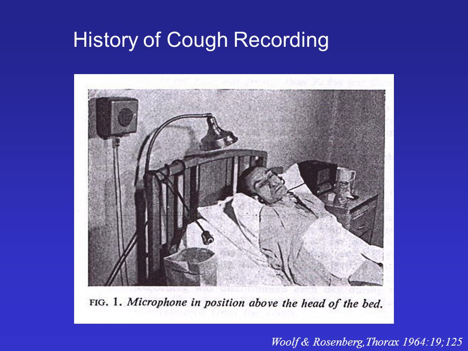 History of Cough Recording Woolf & Rosenberg,Thorax 1964:19;125