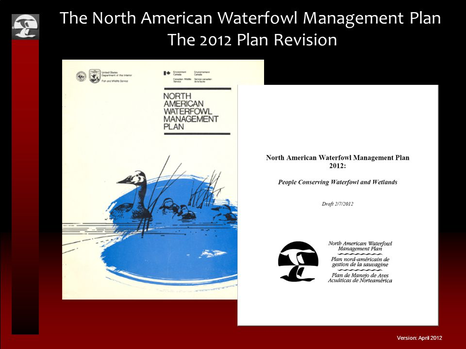The North American Waterfowl Management Plan The 2012 Plan Revision Version: April 2012
