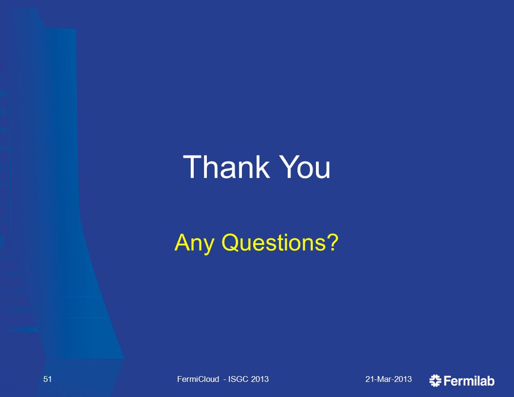 Thank You Any Questions 21-Mar-2013FermiCloud - ISGC 201351