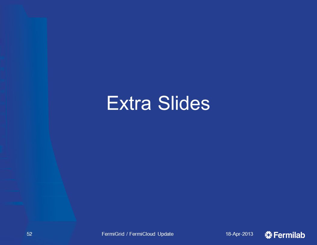 Extra Slides 18-Apr-2013FermiGrid / FermiCloud Update52