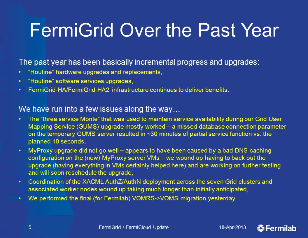 Cloud Computing Environment FermiCloud Security taskforce recommended to Fermilab Computer Security Board and the Computer Security Team that a new Cloud Computing Environment be established, This is currently under consideration.