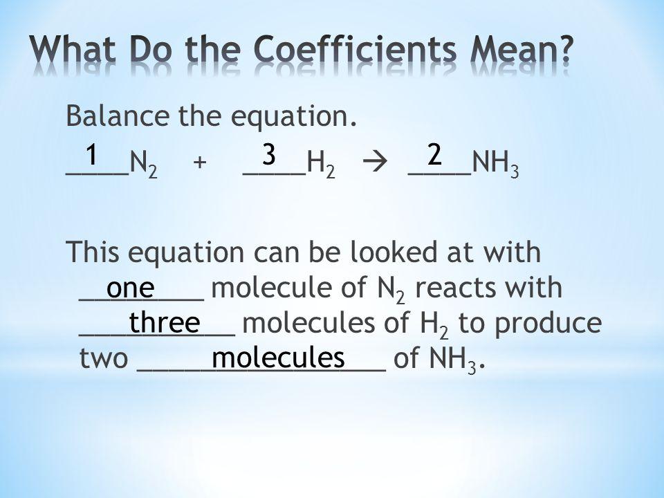 Balance the equation.
