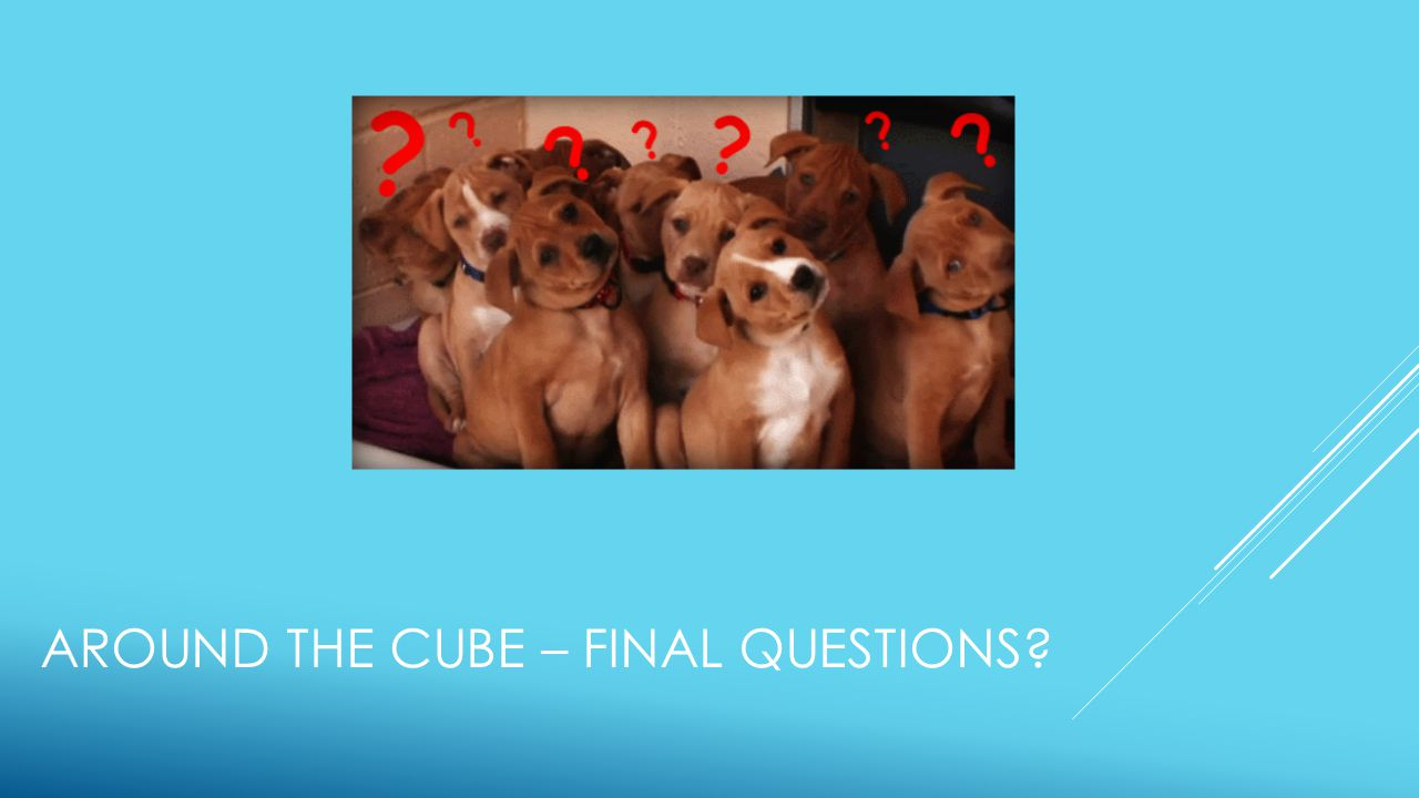 AROUND THE CUBE – FINAL QUESTIONS