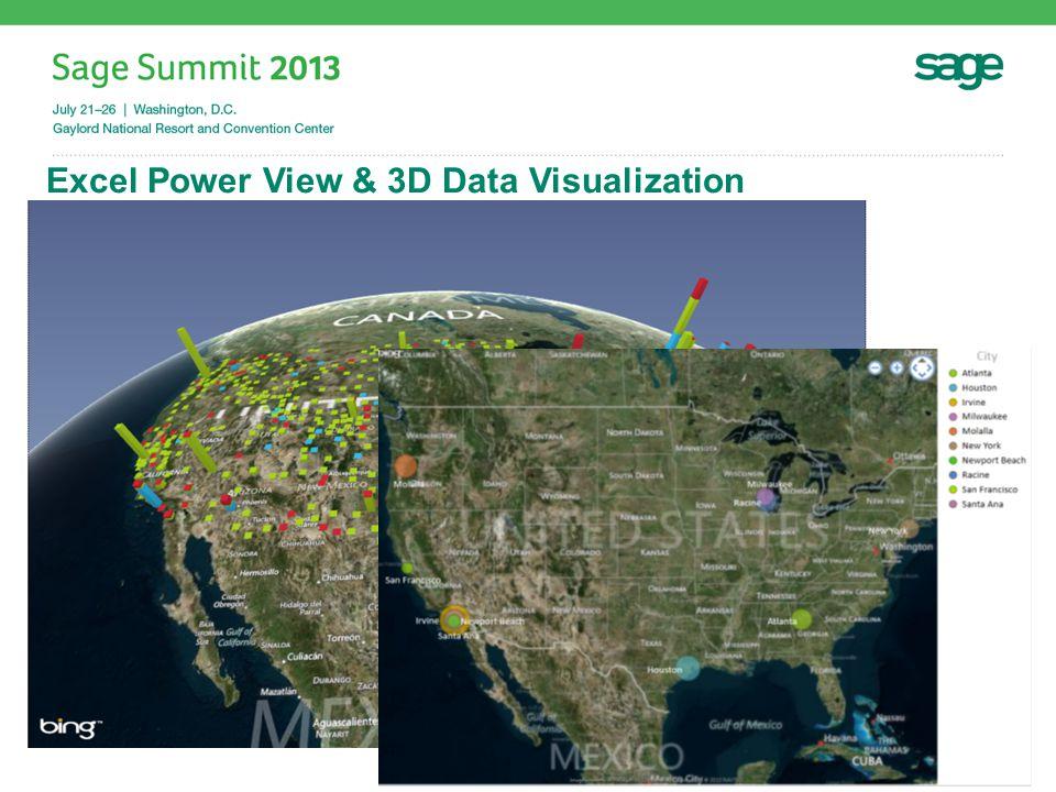 Excel Power View & 3D Data Visualization #SageSummit