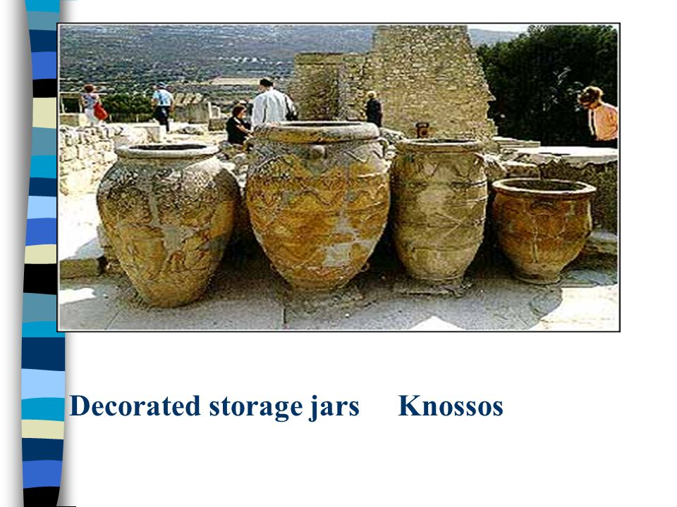 Decorated storage jars Knossos