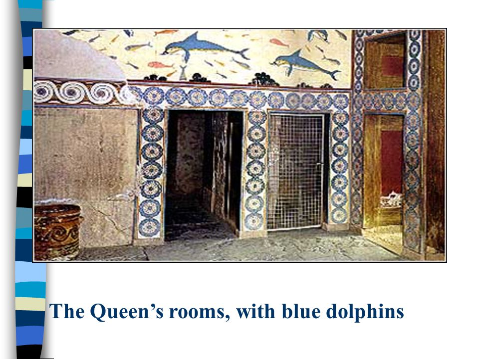 The Queen's rooms, with blue dolphins