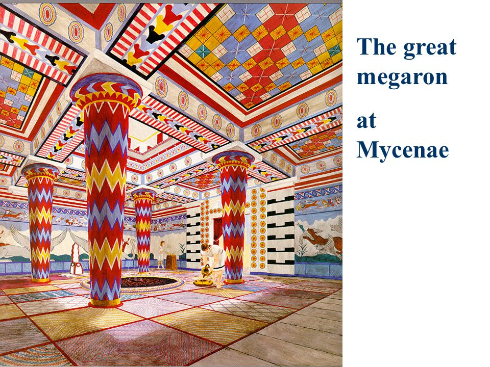 The great megaron at Mycenae