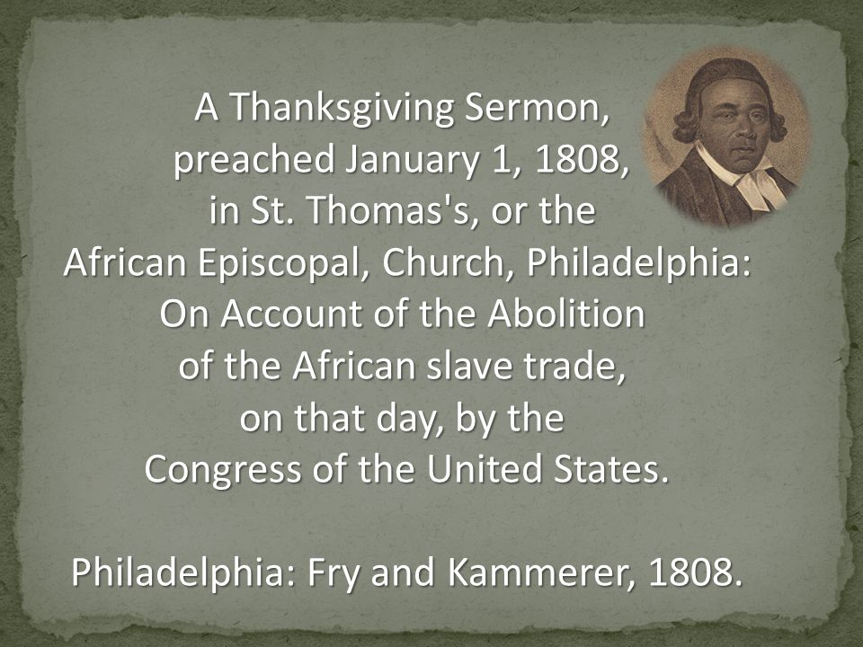 A Thanksgiving Sermon, preached January 1, 1808, in St.