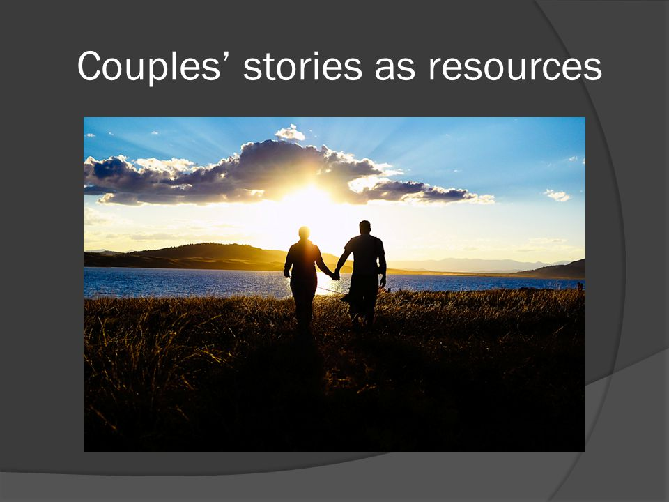 Couples' stories as resources