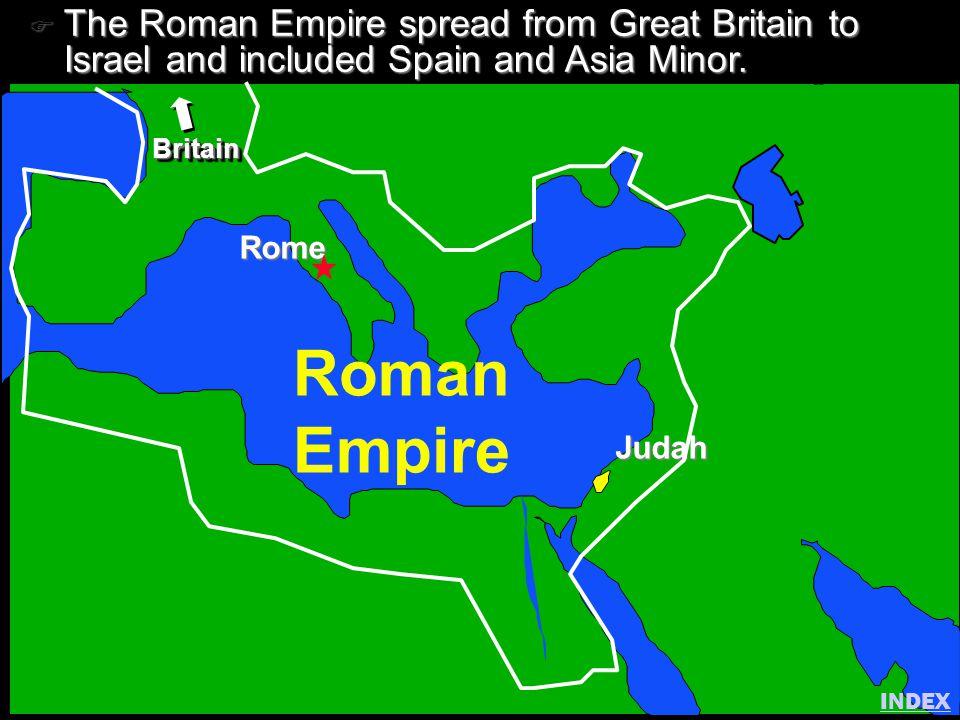 Click to add title Click to add textClick to add text Israel Roman Empire Rome Judah BritainBritain F The Roman Empire spread from Great Britain to Is