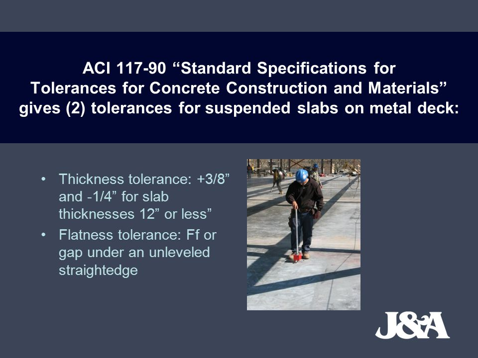 There is no level alignment tolerance specified for suspended slabs.