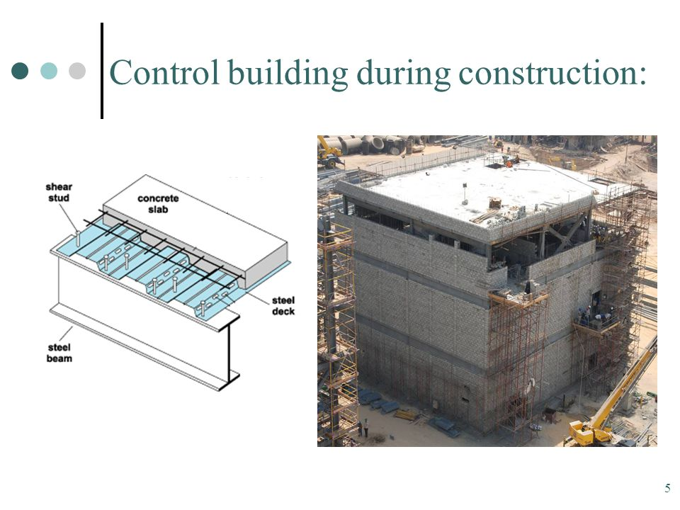 5 Control building during construction: