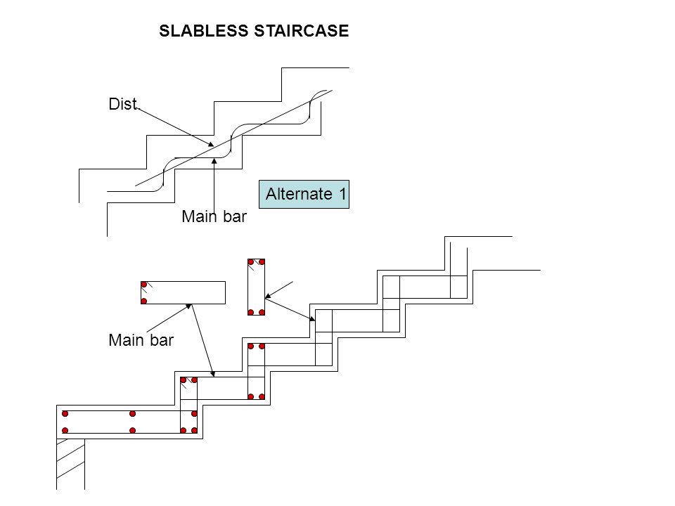 Main bar Dist. Main bar Alternate 1 SLABLESS STAIRCASE