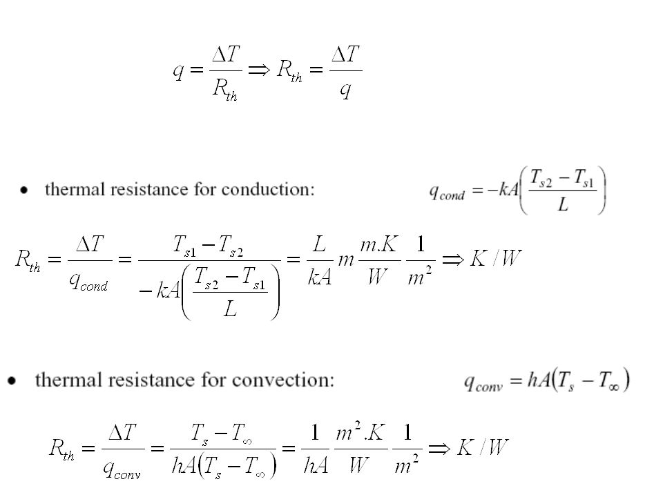Electrical Circuit Theory of Heat Transfer DefineThermal Resistance A resistance can be defined as the ratio of a driving potential to a corresponding transfer rate.
