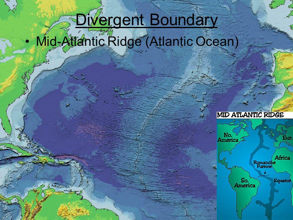 Mid-Atlantic Ridge (Atlantic Ocean) Divergent Boundary