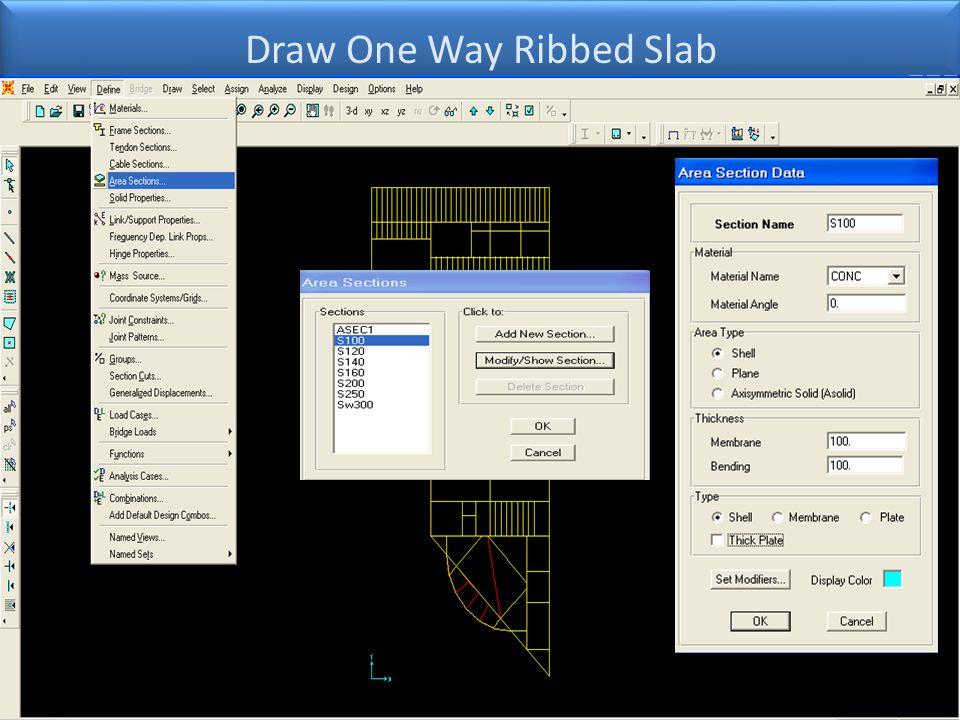 Draw One Way Ribbed Slab