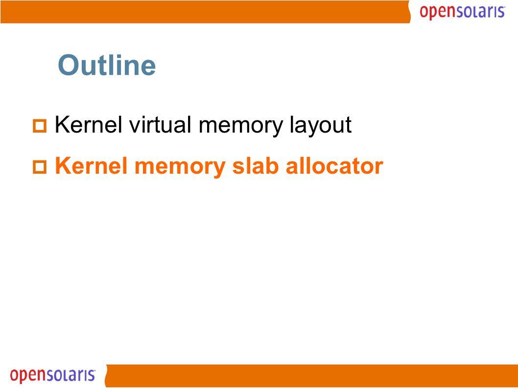 14 Outline  Kernel virtual memory layout  Kernel memory slab allocator
