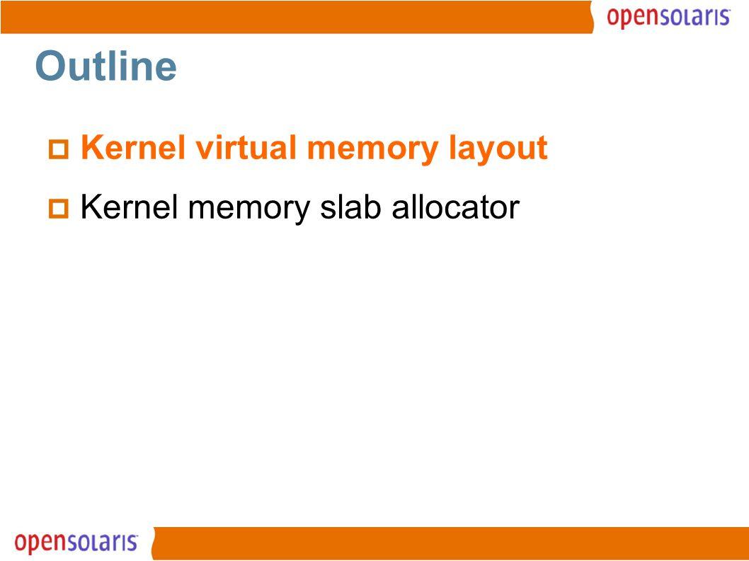 2 Outline  Kernel virtual memory layout  Kernel memory slab allocator