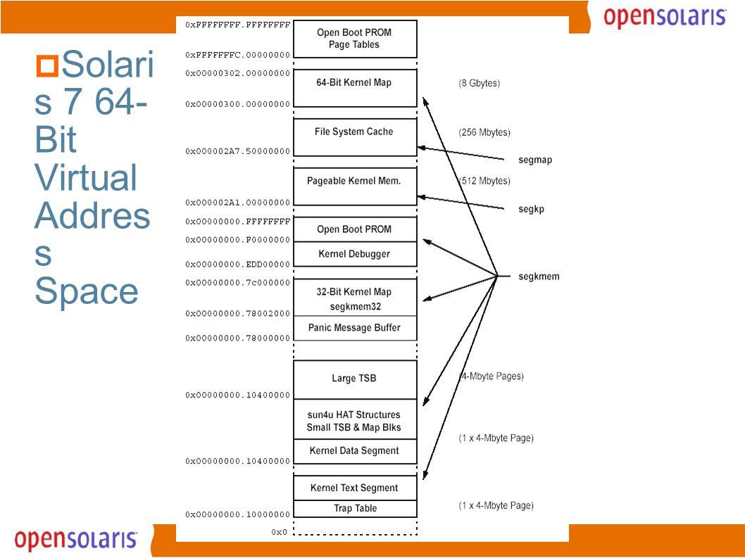 6  Solari s 7 64- Bit Virtual Addres s Space