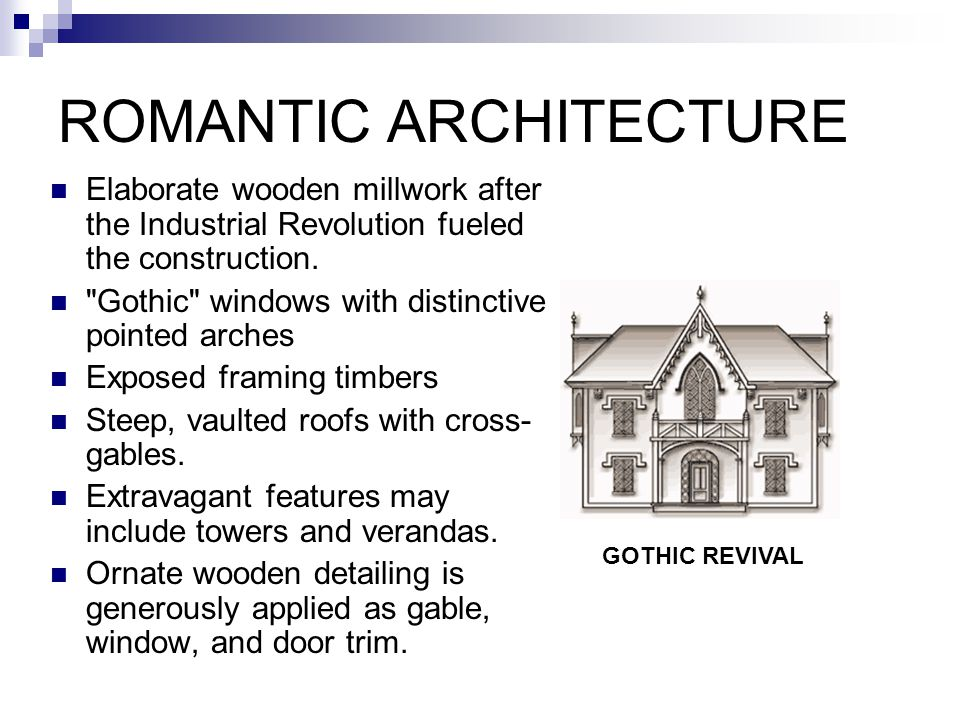 COLONIAL ARCHITECTURE Stately, Symmetrical appearance being rectangular shape with two stories.