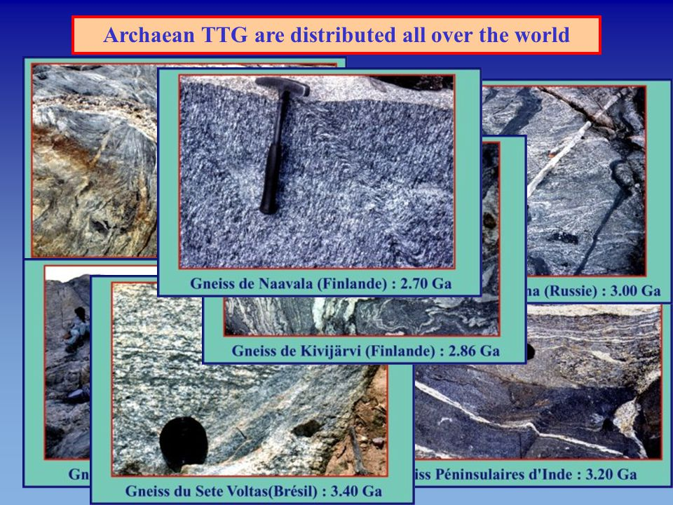 Archaean TTG emplaced over a long period of time  2 Ga From 4.5 to 2.5 Earth heat production decreased by about 3 times