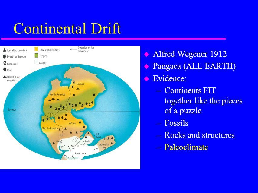 SEA-FLOOR SPREADING u Explanations – Mid-oceanic ridge » Hot mantle rock beneath ridge u High heat flow u Basalt eruptions » Rift valley » Shallow-focus earthquakes