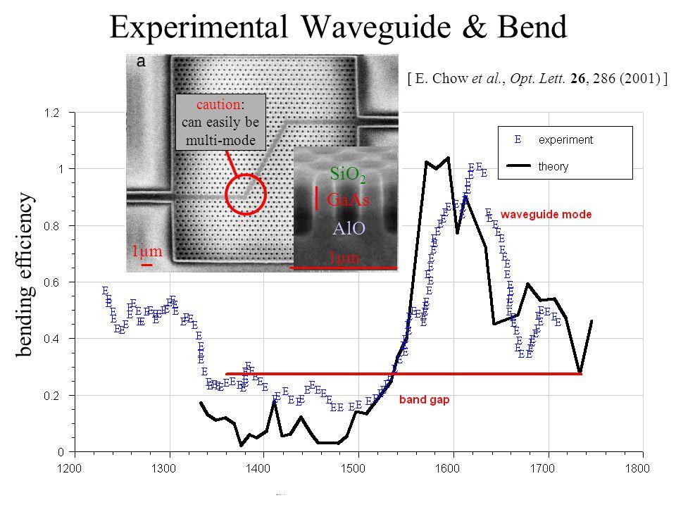Experimental Waveguide & Bend [ E. Chow et al., Opt.