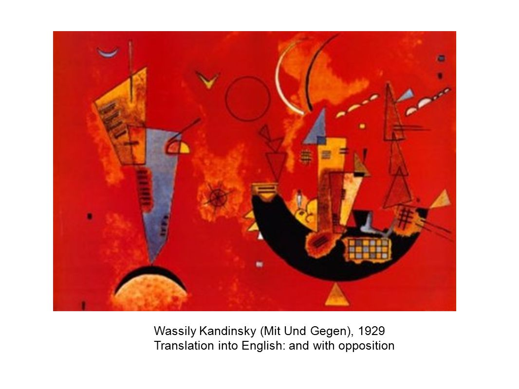 Wassily Kandinsky (Mit Und Gegen), 1929 Translation into English: and with opposition